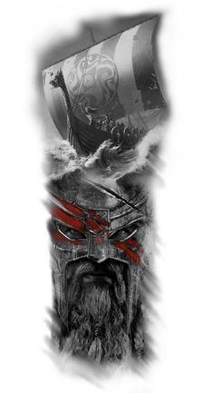 Tattoos And Body Art tattoo o tatoo Viking Ship Tattoo, Viking Warrior Tattoos, Viking Tattoo Sleeve, Norse Tattoo, Viking Tattoo Design, Viking Tattoos For Men, Angel Tattoo Designs, Best Tattoo Designs, Tattoo Sleeve Designs