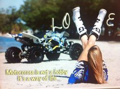 Great saying for all motocrossers to live by <3 Samantha Cheetham #19