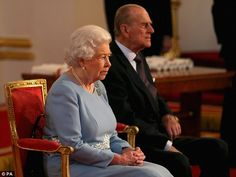 Queen Elizabeth II and the Duke of Edinburgh present awards for the Queen's Anniversary Prizes for Higher and Further Education at Buckingham Palace in London.