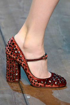 Dorothy can keep her ruby slippers. We'll take Dolce & Gabbana's studded Mary Janes...love, love D&G