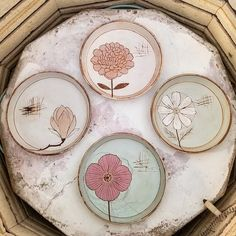 Updates from whitneysmith on Etsy Painted Ceramic Plates, Ceramic Decor, Hand Painted Ceramics, Ceramic Painting, Ceramic Art, Pottery Plates, Ceramic Pottery, Ceramic Flowers, Flower Plates