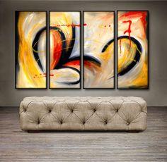 "'Beautiful Swirls II' - 48"" X 30"" Original Abstract Art Painting"