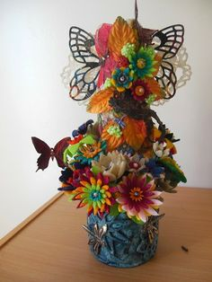 Ngaere - Torso using Imagine If felt flowers and butterfly and lizard embellishements