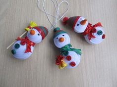 Look What Ive Made - Projects - Papercrafts - Little cute snowmen