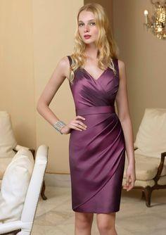 Dark Purple Bridesmaid Dresses #purple Place an order via     - service@dreampurple.co.uk