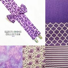 Purple Wedding Theme Suspenders and Bow Tie  Check out this item in my Etsy shop https://www.etsy.com/listing/509883725/purple-cheetah-suspenders-quatrefoil