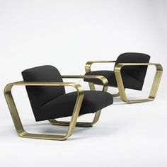 168: Jay Spectre / lounge chairs, pair < Modern Design, 30 March 2008 < Auctions | Wright