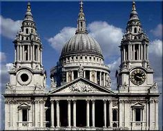St Pauls Cathedral ~ the present church dates from the late century and was built to an English Baroque design of Sir Christopher Wren, as part of a major rebuilding program which took place in the city after the Great Fire of London. Great Fire Of London, The Great Fire, Leeds, The Places Youll Go, Cool Places To Visit, Bristol, Saint Paul London, Liverpool, London Architecture