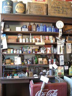 Love this vintage general store look