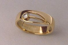 Edelsmederij Dick Winters Gold Jewelry Simple, Gold Rings Jewelry, Modern Jewelry, Metal Jewelry, Unique Diamond Rings, Anniversary Jewelry, Fashion Rings, Jewelry Design, Style