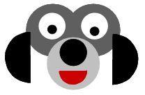 Manualidad con círculos de papel el perro
