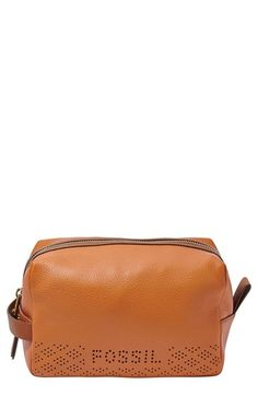 Hot Pink Leather ~ Fossil 'Gifts' Travel Zip-Top Make-up Bag | Nordstrom