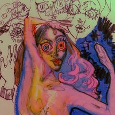 Pretty Art, Cute Art, Art Sketches, Art Drawings, Arte Peculiar, Arte Indie, Arte Sketchbook, Funky Art, Wow Art