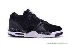 tenis de marca barato Masculino Nike Air Flight 89 306252-024 Leather Preto