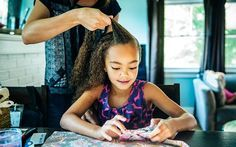 How I Grew Out My Daughter's 3B Hair To Tail Bone Length Using Only Natural Ingredients  Read the article here - http://www.blackhairinformation.com/hair-care-2/grew-daughters-3b-hair-tail-bone-length-using-natural-ingredients/