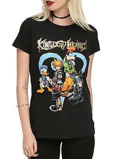 Disney Kingdom Hearts Group Girls T-Shirt,