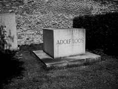Adolf Loos grave marker designed by himself before he died