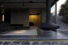 Mountain Retreat Heavily Rendered Stone by Fearon Hay Architects