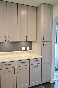 Kitchen Remodel With Gray Cabinets
