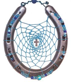 Handcrafted Good Luck Horseshoe Dream Catcher Wall Hanging