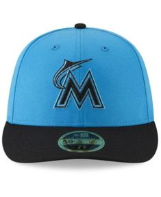 f3b8e5c4b03 New Era Miami Marlins Players Weekend Low Profile 59FIFTY Fitted Cap - Blue  7 3