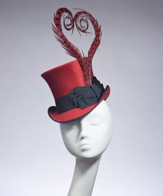 Cherry Red  Viola  Top Hat by HouseofNinesDesign on Etsy 21dff1d0e7b