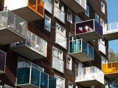 Amsterdam balconies    Wozoco building | design by MVRDV.
