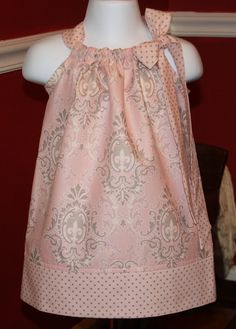 Pillowcase toddler dress - new life for old embroidered pillowcases?