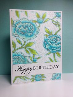 Large Flower Background, Hero Arts, by beesmom - Cards and Paper Crafts at Splitcoaststampers