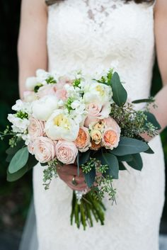 Classic beauty with a classic bouquet! Photo Credit: Josh and Aleah Photography