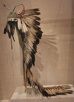 Antelope-dragonfly bonnet, Cheyenne maybe, Chicago Art Inst.