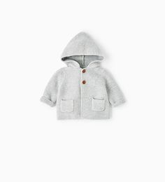 Image 1 of KNIT CARDIGAN WITH HOOD from Zara