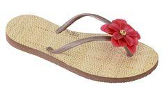 Modelo La Belle rojo #flipflops #print #design #brazilian #stylish #summer #beach #flower