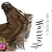 "54""x36"" Warrior Horse Quote / MINKY SIZE  by shopcabin"