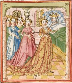 Elisabeth <Nassau-Saarbrücken, Gräfin, 1393-1456> Herpin — Stuttgart (?) - Werkstatt Ludwig Henfflin, um 1470 Cod. Pal. germ. 152 Folio 78v