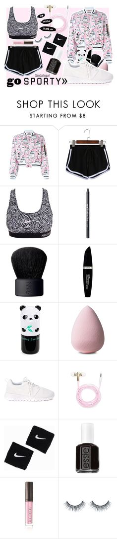 """•GO SPORTY•"" by gandalfsgurl on Polyvore featuring Moschino, NIKE, Urban Decay, NARS Cosmetics, Max Factor, Tony Moly, Forever 21, Essie, Laura Mercier and Sonia Rykiel"