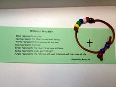 A Scriptures Card To Correlate With Each Color Bead On A