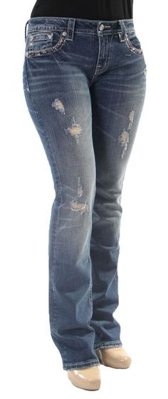 a442a753a0f Almost Famous Freya Destressed Medium Wash Bootcut Jeans at Zumiez ...