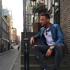 ���Destination Amsterdam. #menstyle#mensfashion#leather#street#amsterda