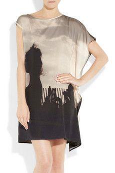 Digital Print Silk Dress