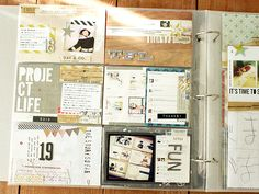 Project Life inspiration via Kaori...cool to do it with page protectors with 6, 4x6 inserts