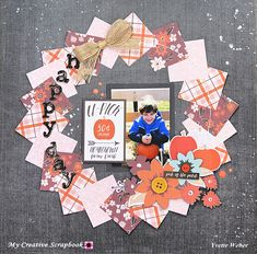 Layout by Yvette Weber - My Creative Scrapbook design team Bridal Shower Scrapbook, Wedding Scrapbook, Baby Scrapbook, Friend Scrapbook, Scrapbook Ideas For Birthday, Couple Scrapbook, Christmas Scrapbook Layouts, Paper Bag Scrapbook, Scrapbook Supplies