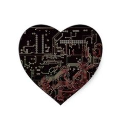 electronic circuit round stickers