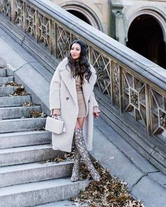 ack to teddy coats and tall boots! Snake Print Boots, Leopard Print Boots, Snake Boots, Winter Fashion Outfits, Fall Outfits, Dressy Outfits, White Outfits, Knee High Stiletto Boots, Over The Knee Boot Outfit