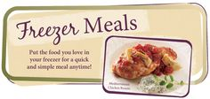 Love freezer meals...especially in summer! Easy cooking!