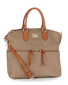 Dillen Leather Double Pocket Satchel - Taupe $288.00 Dooney & Bourke    http://websites-buy.com/countryoutfitter.com