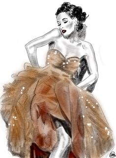 Sketch of Dita Von Teese for Femme Fatale exhibition Digital Ink, Dita Von Teese, Pretty In Pink, My Arts, Beautiful Women, Painting, Inspiration, Image, Inspired