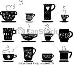 Vector - kop, thee, Of, koffie - stock illustratie, royalty-vrije illustraties, stock clip art symbool, stock clipart symbolen, logo, line art, EPS beeld, beelden, grafiek, grafieken, tekening, tekeningen, vector afbeelding, artwork, EPS vector kunst