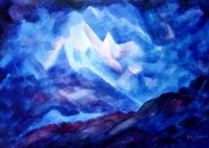 Waldorf ~ 6th grade ~ Geology  Mineralogy ~ Crystals ~ watercolor painting