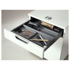 IKEA - SUMMERA Drawer insert with 6 compartments anthracite